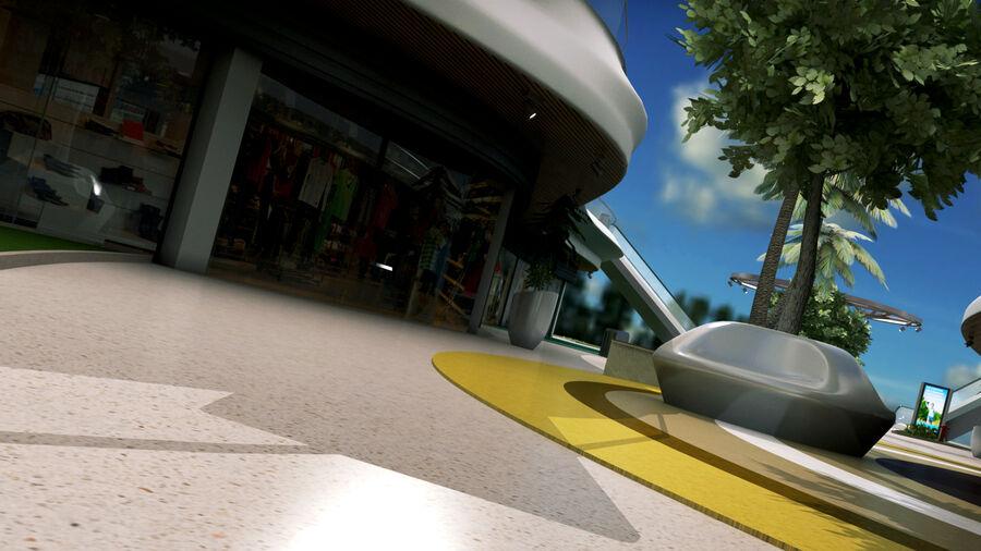 Köpcentrum, parkering och kollektion för offentliga toaletter royalty-free 3d model - Preview no. 8