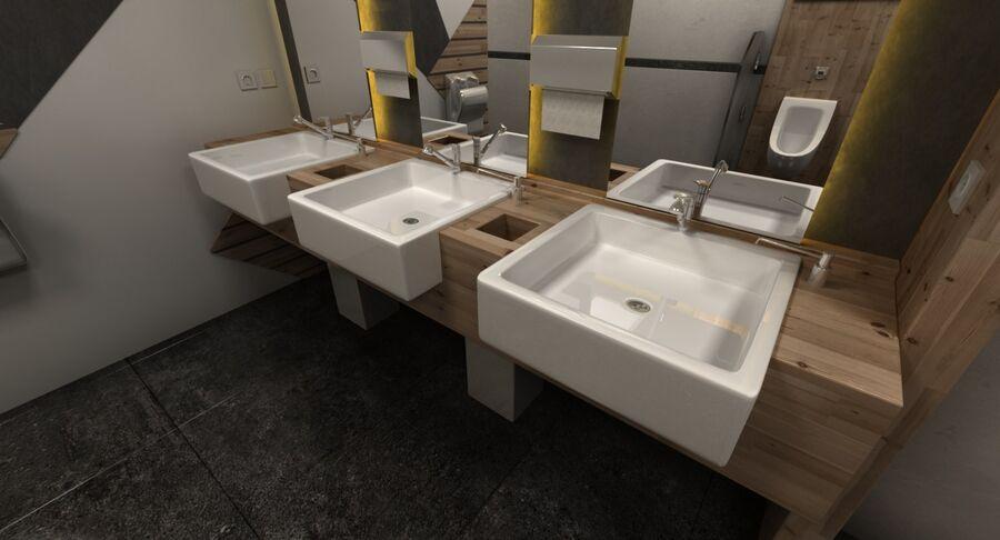 Köpcentrum, parkering och kollektion för offentliga toaletter royalty-free 3d model - Preview no. 38