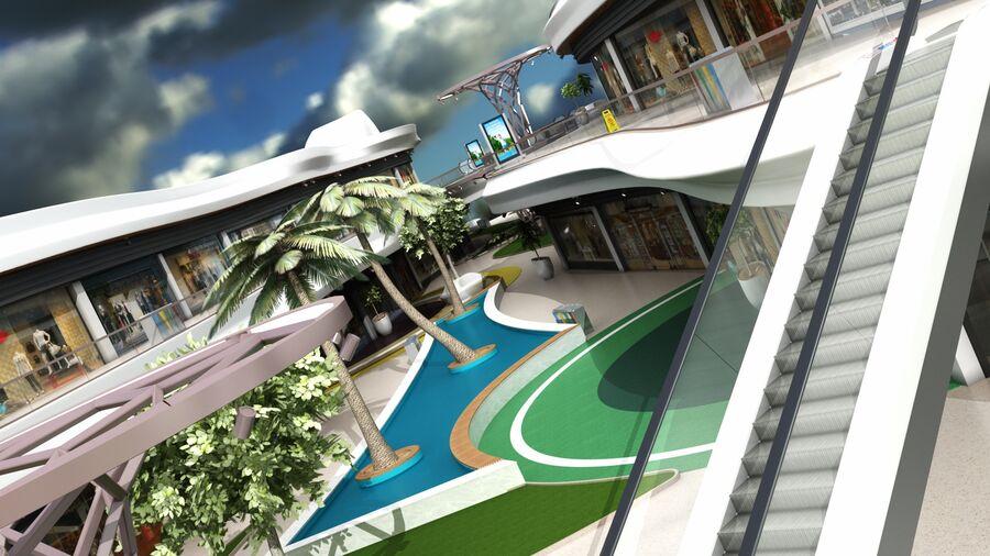 Köpcentrum, parkering och kollektion för offentliga toaletter royalty-free 3d model - Preview no. 6