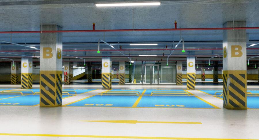 Köpcentrum, parkering och kollektion för offentliga toaletter royalty-free 3d model - Preview no. 3