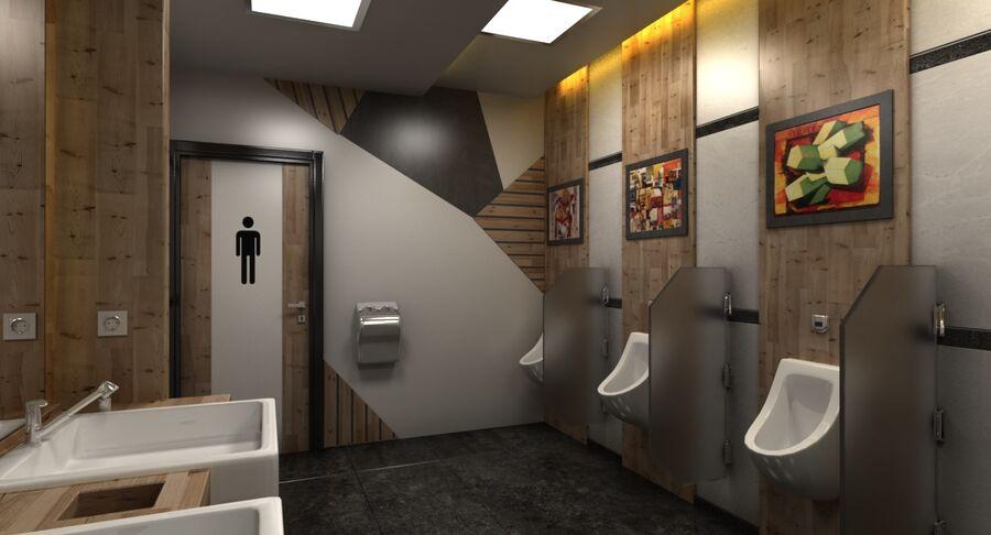 Köpcentrum, parkering och kollektion för offentliga toaletter royalty-free 3d model - Preview no. 5