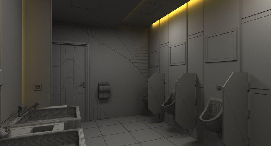 Köpcentrum, parkering och kollektion för offentliga toaletter royalty-free 3d model - Preview no. 43