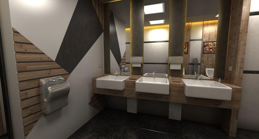 Köpcentrum, parkering och kollektion för offentliga toaletter royalty-free 3d model - Preview no. 39