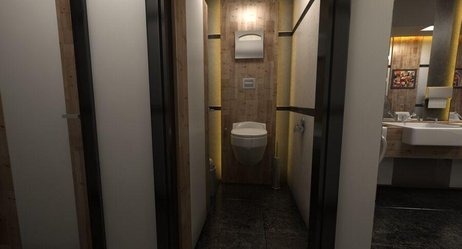 Köpcentrum, parkering och kollektion för offentliga toaletter royalty-free 3d model - Preview no. 32