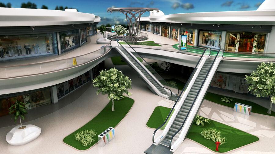 Köpcentrum, parkering och kollektion för offentliga toaletter royalty-free 3d model - Preview no. 12