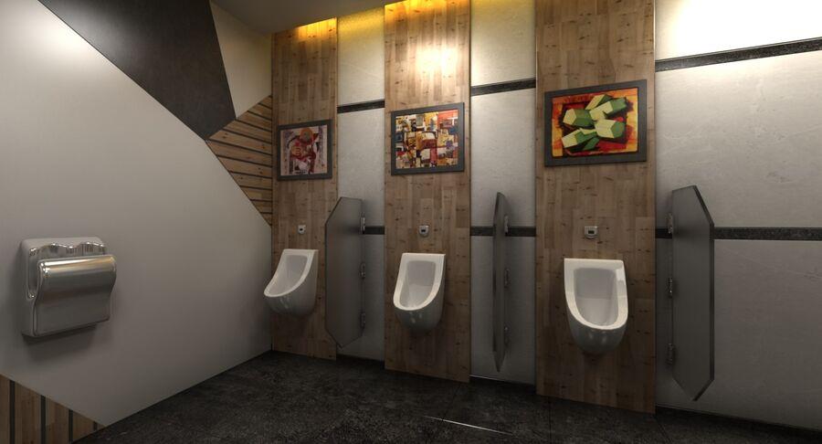 Köpcentrum, parkering och kollektion för offentliga toaletter royalty-free 3d model - Preview no. 37