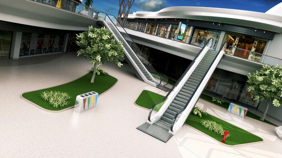 Köpcentrum, parkering och kollektion för offentliga toaletter royalty-free 3d model - Preview no. 9