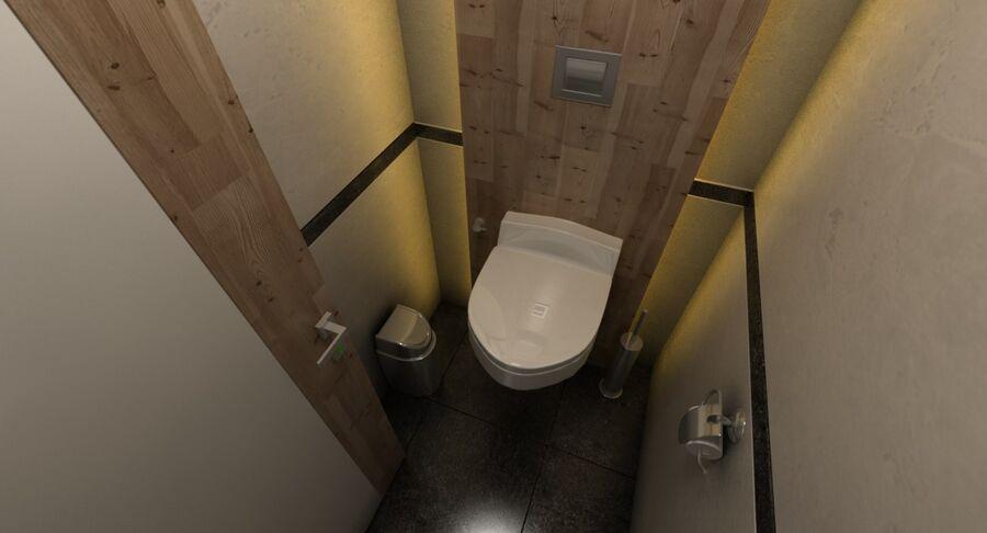 Köpcentrum, parkering och kollektion för offentliga toaletter royalty-free 3d model - Preview no. 31