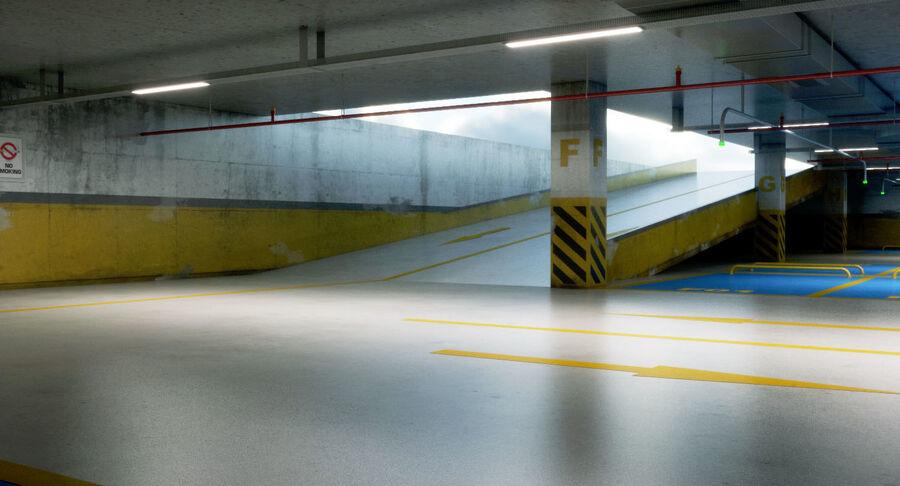 Köpcentrum, parkering och kollektion för offentliga toaletter royalty-free 3d model - Preview no. 21