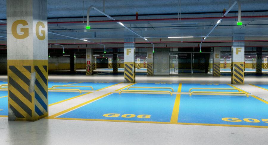 Köpcentrum, parkering och kollektion för offentliga toaletter royalty-free 3d model - Preview no. 20