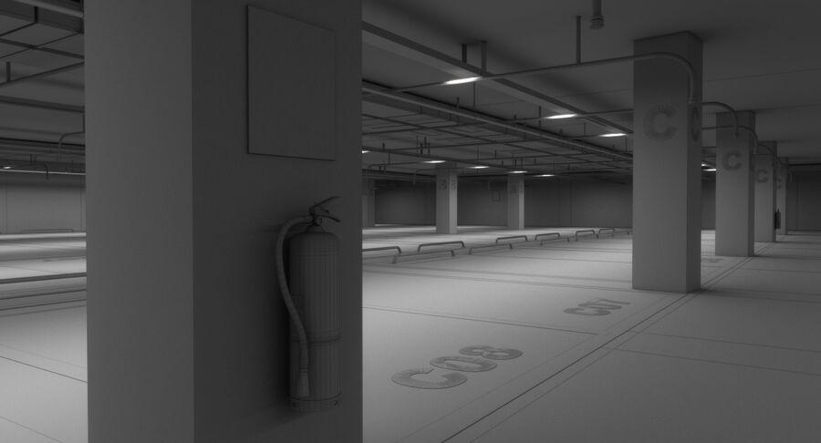 Köpcentrum, parkering och kollektion för offentliga toaletter royalty-free 3d model - Preview no. 26