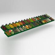 Коллекция фруктового и овощного магазина 3d model
