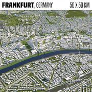 Francoforte Germania 50x50km 3d model