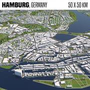 Amburgo Germania 50x50km 3d model