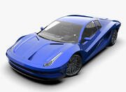 Concept car - concepto de diseño modelo 3d