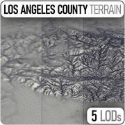 Terreno in elevazione della contea di Los Angeles 3d model