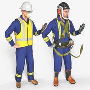 Workman Coveralls - Equipment - UNREAL 3d model