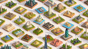 Polygonia Cartoon Low Poly Monumenten Mega Pack 3d model