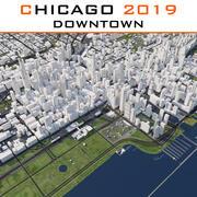 シカゴダウンタウン2019 3d model