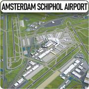 Aeroporto di Amsterdam Schiphol - AMS 3d model