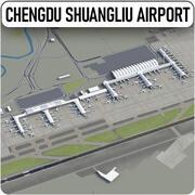 Chengdu Shuanglius internationella flygplats - CTU 3d model