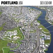 Portland 50x50km 3d model