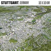 Stoccarda Germania 50x50km 3d model