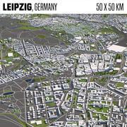 Lipsia Germania 50x50km 3d model