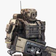 机器人士兵低聚 3d model