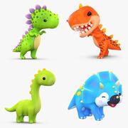 Cartoon Dinosaur Pack Collection 3d model