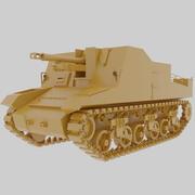 Танк Секстон Второй мировой войны 3d model