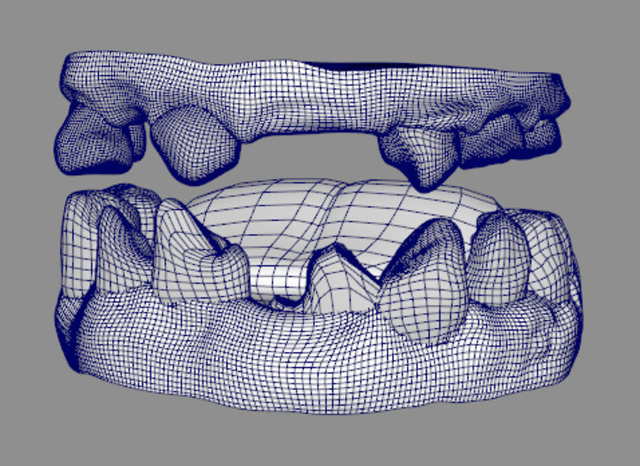 Teeth dirty broken for creature or monster royalty-free 3d model - Preview no. 4