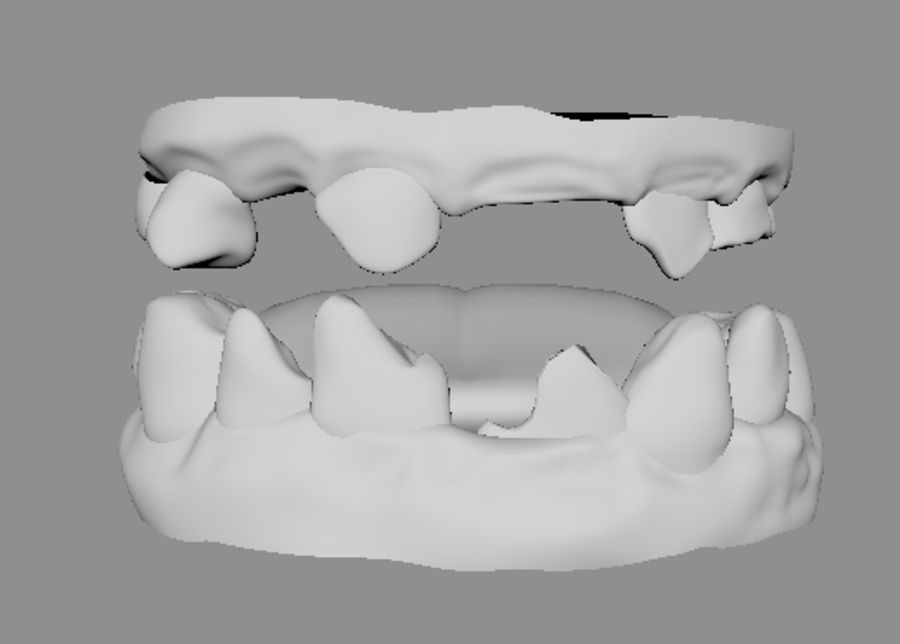 Teeth dirty broken for creature or monster royalty-free 3d model - Preview no. 5