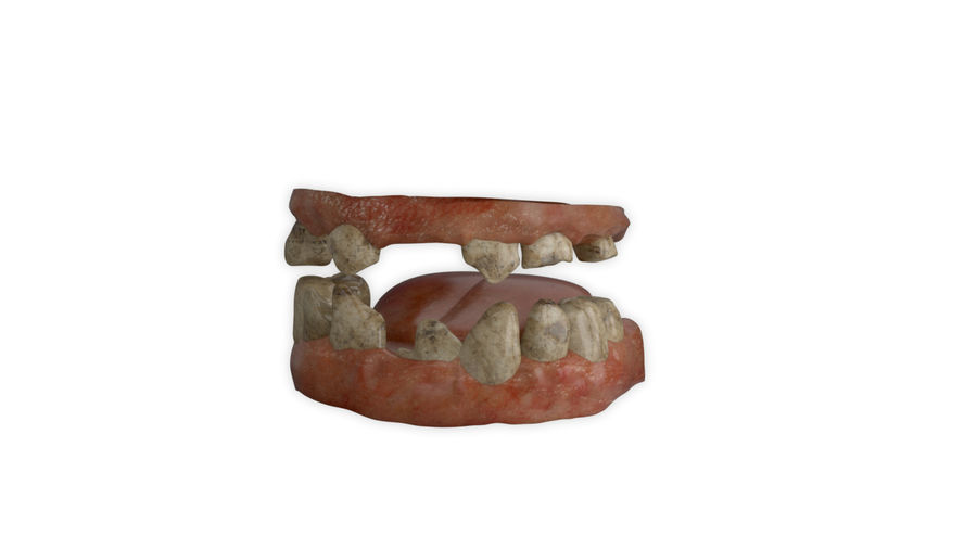 Teeth dirty broken for creature or monster royalty-free 3d model - Preview no. 2