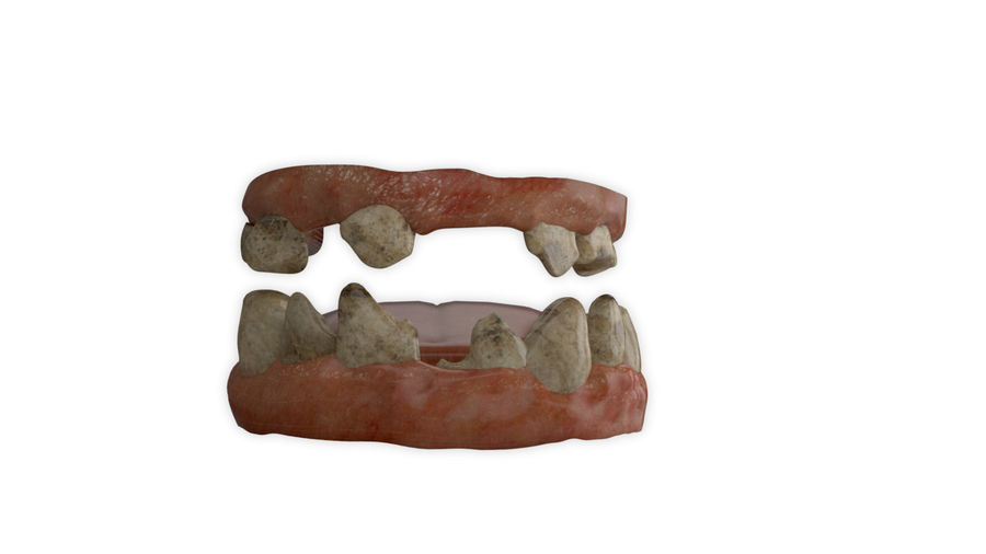 Teeth dirty broken for creature or monster royalty-free 3d model - Preview no. 1