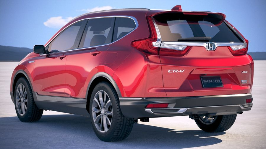 Honda CR-V 2020 royalty-free 3d model - Preview no. 14
