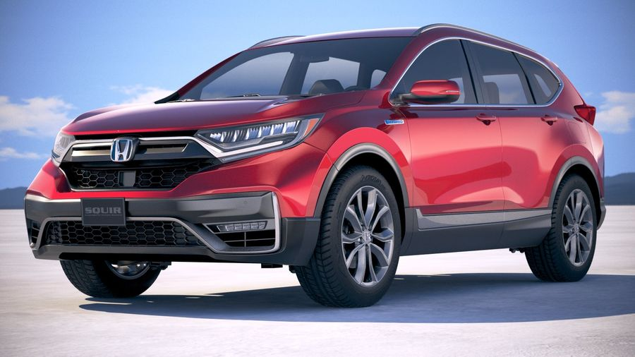 Honda CR-V 2020 royalty-free 3d model - Preview no. 13