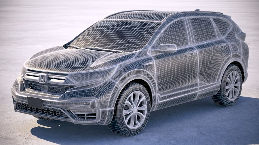 Honda CR-V 2020 royalty-free 3d model - Preview no. 25