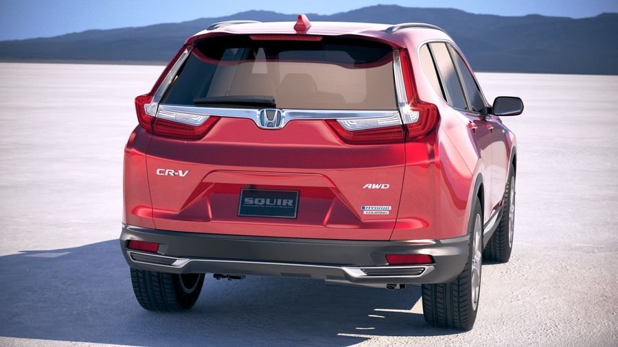 Honda CR-V 2020 royalty-free 3d model - Preview no. 6