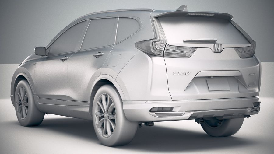 Honda CR-V 2020 royalty-free 3d model - Preview no. 24