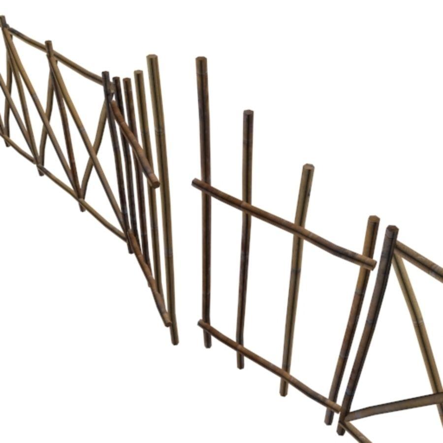Portão e cerca de bambu royalty-free 3d model - Preview no. 3