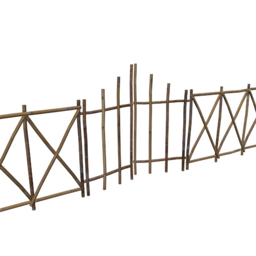 Portão e cerca de bambu royalty-free 3d model - Preview no. 1