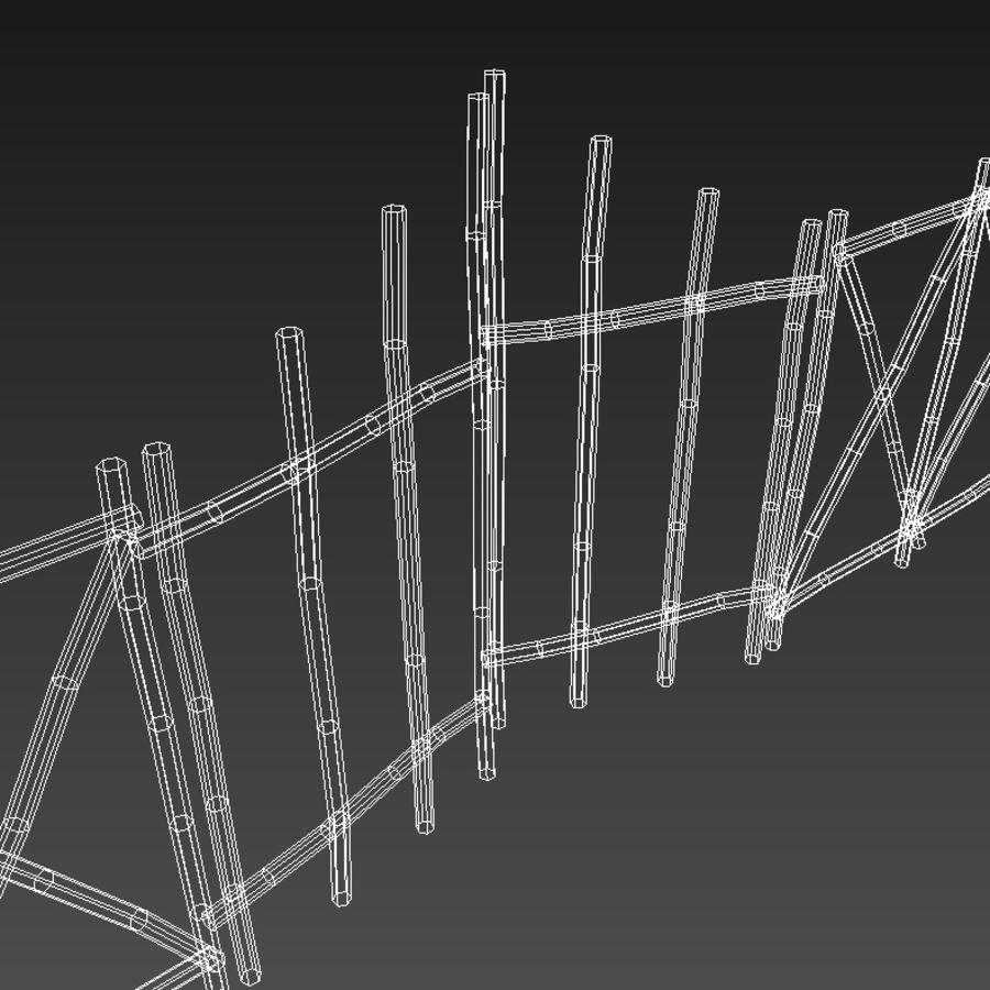 Portão e cerca de bambu royalty-free 3d model - Preview no. 4