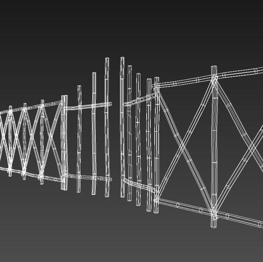 Portão e cerca de bambu royalty-free 3d model - Preview no. 5