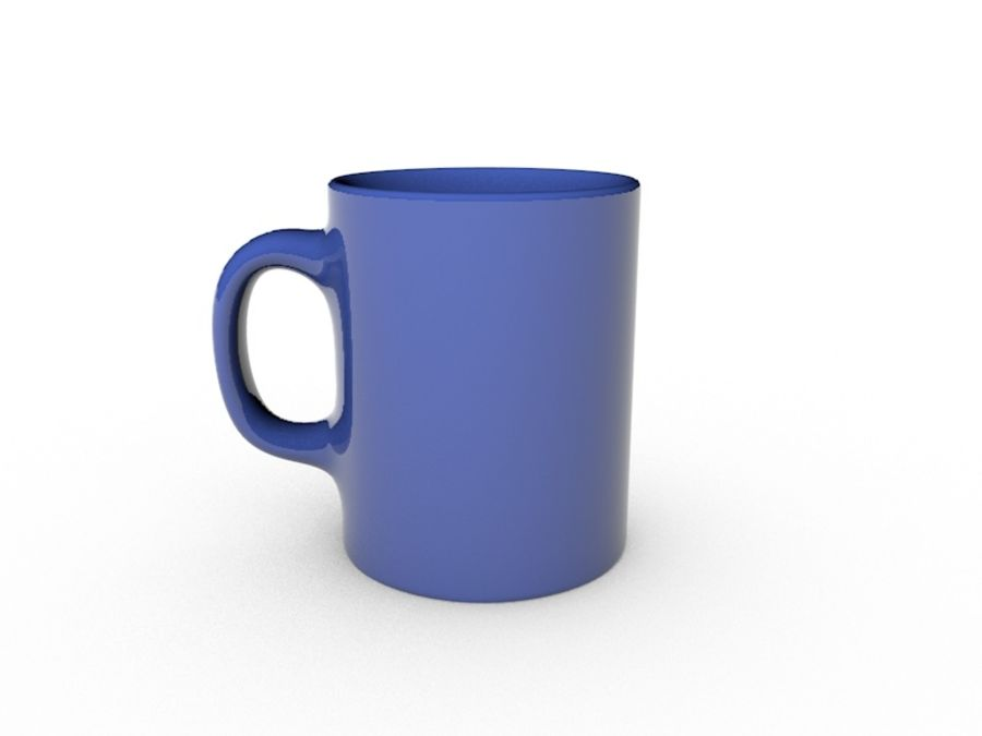 Simple Mug royalty-free 3d model - Preview no. 4