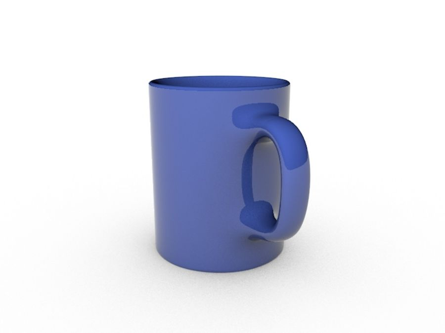 Simple Mug royalty-free 3d model - Preview no. 2