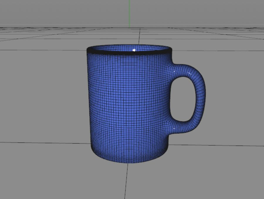Simple Mug royalty-free 3d model - Preview no. 5