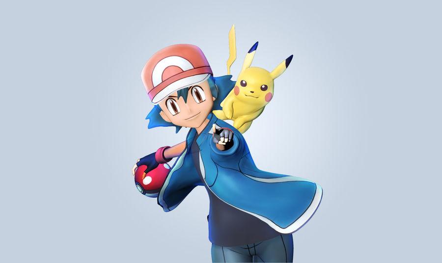 Leuke Pikachu voor 3D-printen royalty-free 3d model - Preview no. 5