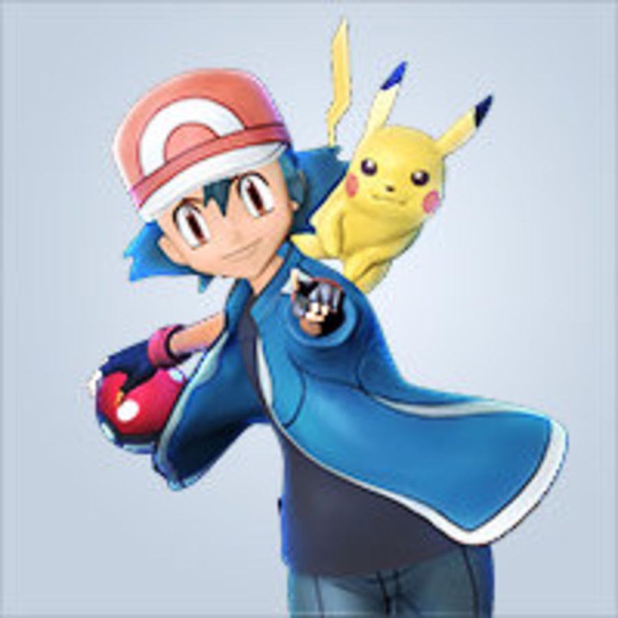 Leuke Pikachu voor 3D-printen royalty-free 3d model - Preview no. 3