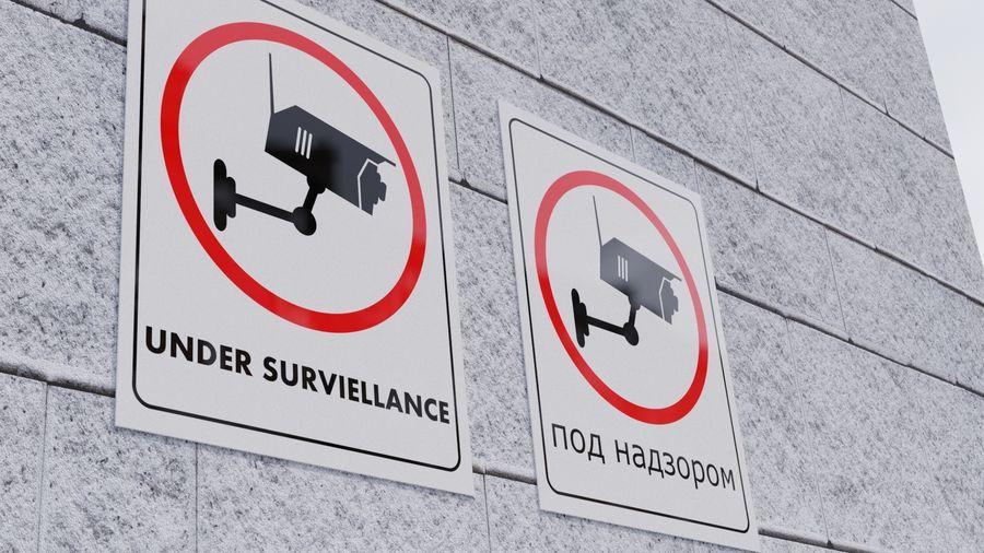 Avviso telecamera di sicurezza royalty-free 3d model - Preview no. 1